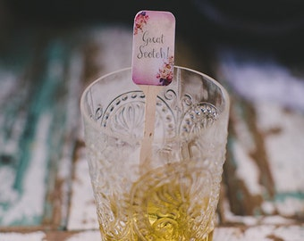 Custom Wedding Drink Stirrers, Stir Sticks, Drink Sticks, Swizzle Sticks