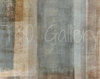 Blended, 2014 - Artwork Modern Contemporary Abstract Print Wall Decorative Free Shipping Grey Beige Brown White 11x1412x1816x20 Canvas Print