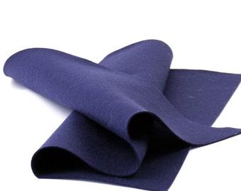 """Wool Felt Sheet - 100% Wool Felt in Color NAVY - 18"""" X 18"""" Wool Felt Sheet - Merino Wool Felt"""