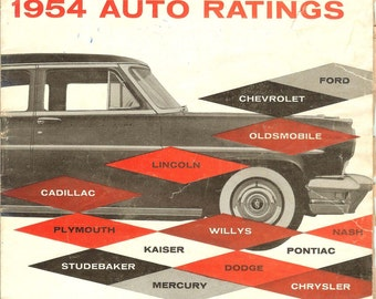 Consumer Reports 1954 Auto Ratings