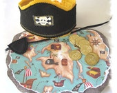 Pirate Play Set,  Pirate Dess Up, Pirate Birthday Party, Pirate Treasure Map