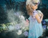 Paradise garden hydrangea - chiffon kimono vest