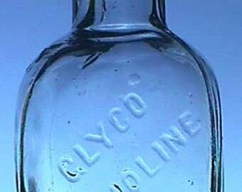 Tiny sample DENTAL antiseptic bottle GLYCO THYMOLINE a Century Old bottle