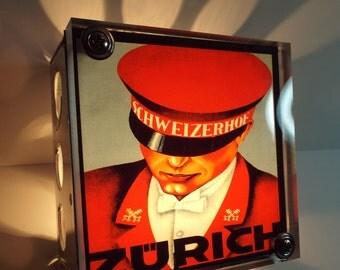 Zurich Luggage Label Night Light