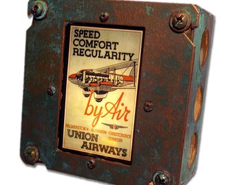 Rustic Union Airways Night Light of New Zealand promises industrial chic