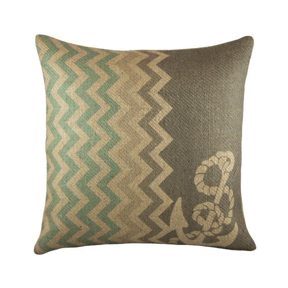 Throw Pillows Nordstrom : Items similar to Chevron Anchor Pillow, Nautical Throw Pillow, Decorative Beach Pillow, Chic on Etsy
