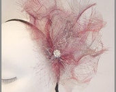 Kentuky Derby Hat / Fascinator hat / Fuschia Fascinator/  Wedding Fascinator
