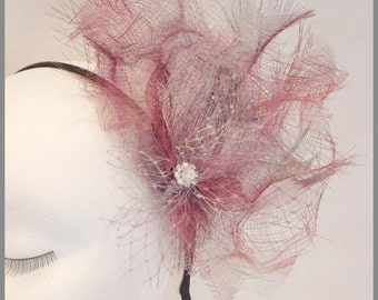 Kentuky Derby Hat / Fascinator hat / Fuschia Fascinator/  Wedding Fascinator