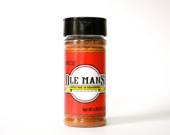 Ole Man's Spice Rub & Seasoning- Original Blend 4.96 oz.  Buy 2 and Get 1 Free!