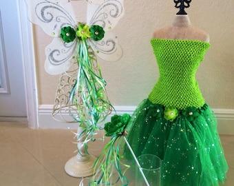 Tinkerbell Tutu, Tinkerbell Costume, Fairy Costume, Tinkerbell Wings, White Wings, Tinkerbell Fairy, Tinkerbell Dress, Tinkerbell Birthday