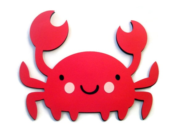 Crab Shaped Card - Red Crab - Ocean Babies - Sea Creatures - Animal Shaped Cards