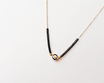 Evil eye necklace in black fashion jewelry turkish accessories evil eye jewelry arabic necklace gifts for women best friend birthday