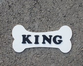 Unique BONE shaped name plaque - Personalized dog house name plate - Gift for dog owner - Custom kennel pup name sign - Puppy dog house gift