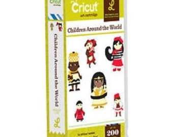 CHILDREN AROUND the WORLD - Cricut Cartridge- Brand New in Sealed Pkg - LOTs of FuN  for SCRaPBOOKING