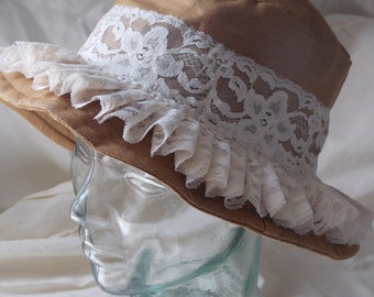 Linen and Lace Hat