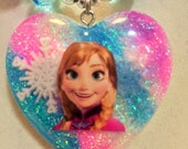 Frozen Anna Snowflake Chunky Necklace