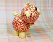 Nelo Polymer Clay Piglet Figurine