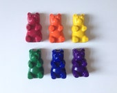 Set of 6 Eco-Friendly Soy/Bees Wax Gummy Bear Crayons
