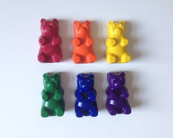 Set of 6  Gummy Bear Crayons