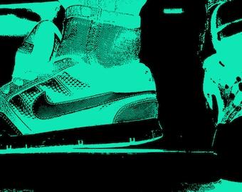 Nike Poster Art, Sneaker Art, Neon Art