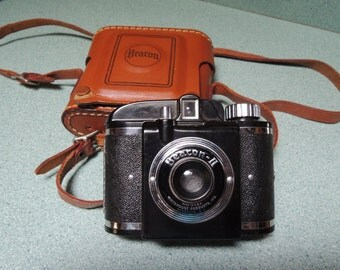 SALE  - Beacon II Vintage Camera by Whitehouse Products, Inc. with original leather case