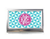 Personalised Business Card Case - Card Case Protector - Pinwheel P12