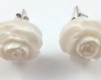 60% OFF Hand Carved Flower Earrings - CLOSE OUT Sale