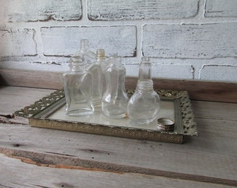 Vintage Small Bottles Collection of Perfume Bottles Apothecary Bottles