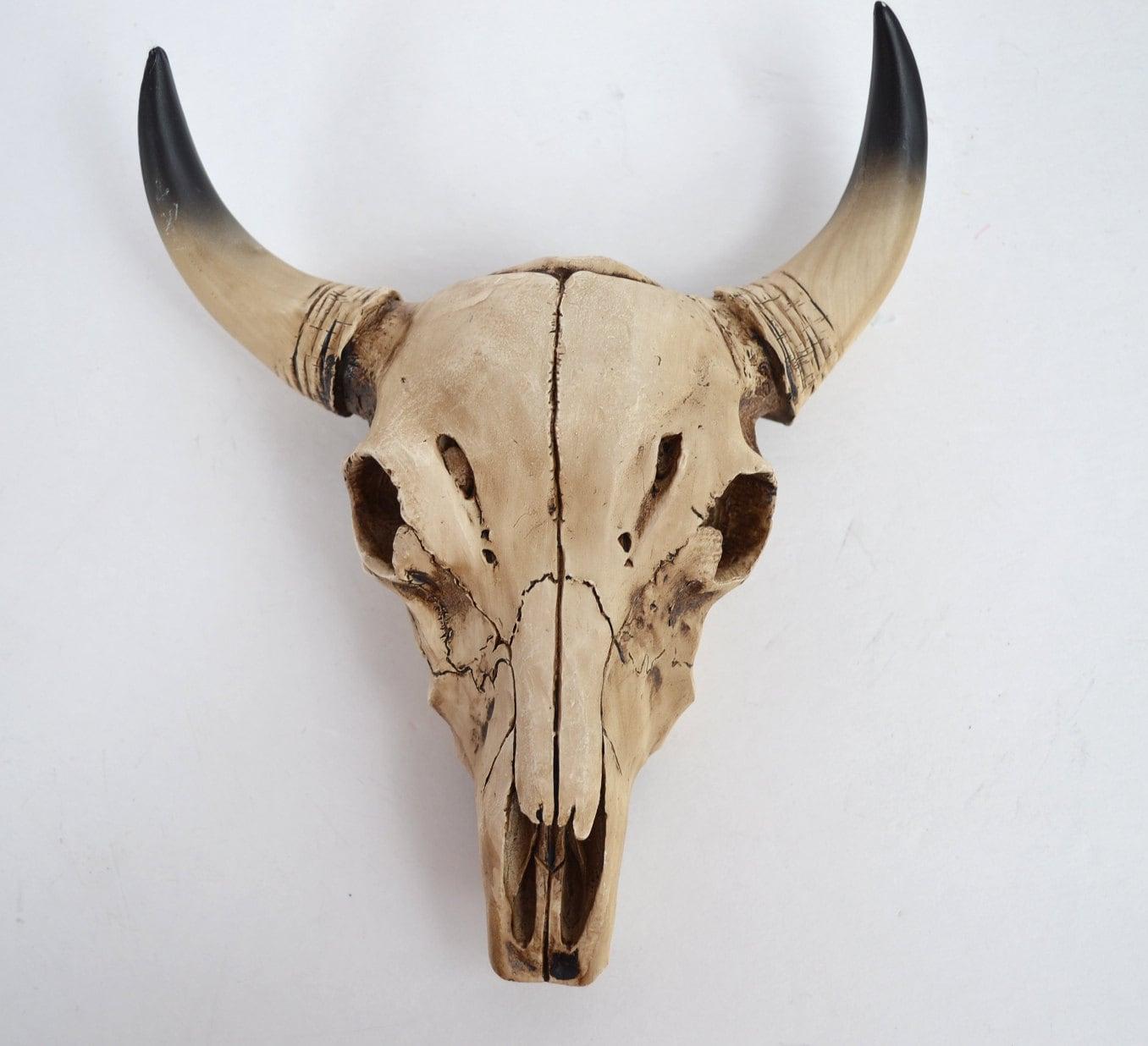 Cow Skull Wall Mount Modern Decor Southwestern Decor Faux