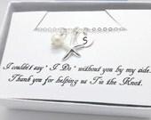 SET of 4,5,6,7,8,9,10, Bridesmaid, Bridal, Wedding, Personalized, Pearl neckalce, Sterling Silver Starfish Single Strand - graduation Gifts
