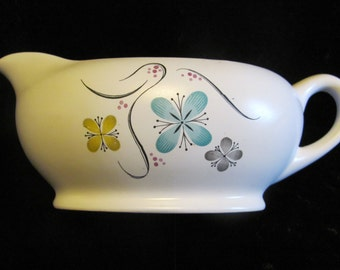Atomic Flowers Gravy Boat Creamer W.S. George Today Pattern