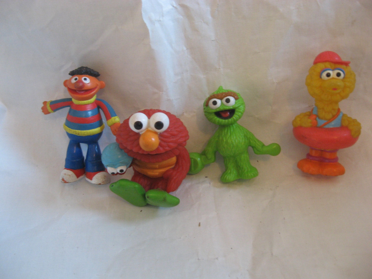 4 SESAME STREET FIGURINES by CECISCOLLECTIBLES on Etsy