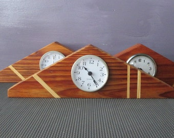 Clock - Desk Clock - Small Clock - Recycled wood Clock - Old wood Clock - Natural wood Clock - Light Clock