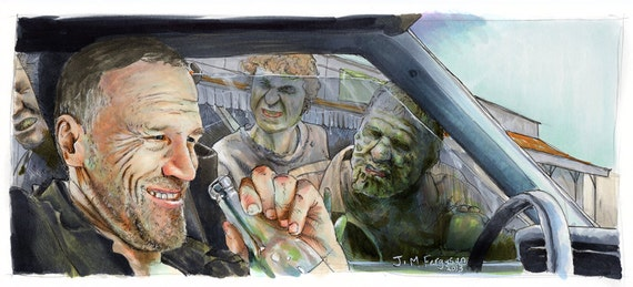 The Walking Dead - Merle Dixon Print