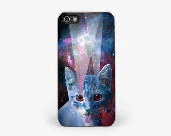 GALAXY CAT iPhone 5S Case, Space iPhone 6S Case, universe iPhone 5C Case, Cat iPhone 7 case