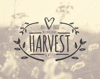 Harvest Handrawn Premade Logo Design Branding Watermark Custom Logo Template