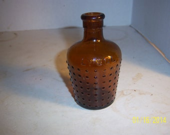 1910's Lysol Boots All British 3 7/8 inch tall Amber Household Poison Bottle No 2