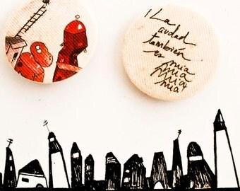 the city belong to me too II, brooch