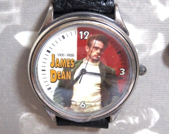 James Dean Fossil Wrist Watch with Keychain - Limited Edition - Vintage
