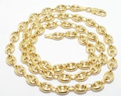 14k Gold Puffed Mariner Chain Necklace - Reserved For Lisa- Already SOLD