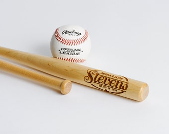 Engraved Mini Baseball Bat Personalized Ring Bearer Gift Groomsmen Gift, 1 Trophy Bat, Little League, Graduation Gift, 1 Bat