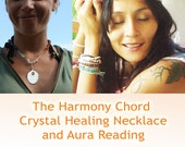 Crystal Necklace and Aura Colours Reading and Meaning, with Jelila