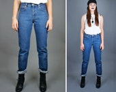 Vtg LEVI's Pants / High Waist Jeans / DENIM / Fall Fashion / Winter / 90s / 80s / Straight Leg / Long / Retro / Grunge / Classic / Pants