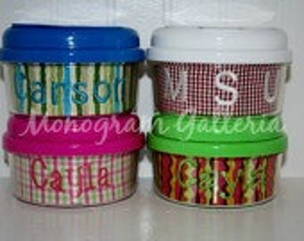 Monogrammed 12 oz. Snack Container