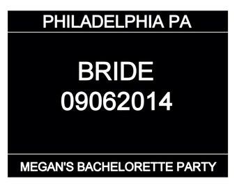 Bachelorette Party Mugshot Signs - PDF FILE