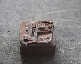 ringer washer print press advertising letterpress stamping stamp block