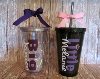 Big -OR- Little Personalized Acrylic Tumbler - 16 Ounces