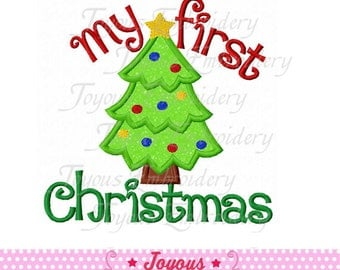 Instant Download My First Christmas Applique Embroidery Design NO:1588