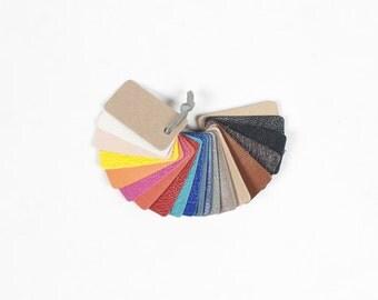 Leather scraps samples