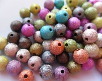 20 8mm Mixed Color Stardust Spacer Beads    -S4SM-1